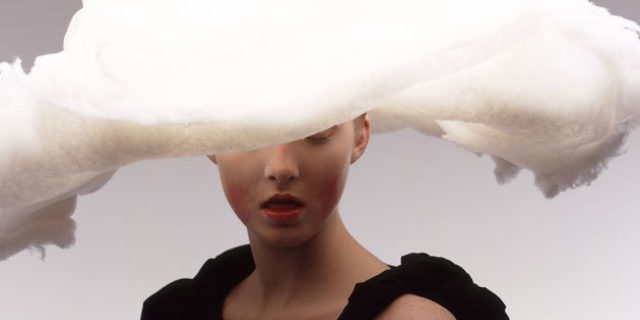 Yohji Yamamoto, Spring/Summer 1998, photo Inez van Lamsweerde and Vinoodh Matadin, Art direction and design by M/M (Paris), Courtesy Matthew Marks Gallery, New York
