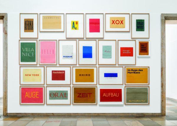 Franz Erhard Walther. Shifting Perspectives Ausstellungsansicht / Exhibition view, Haus der Kunst, Photo: Markus Tretter