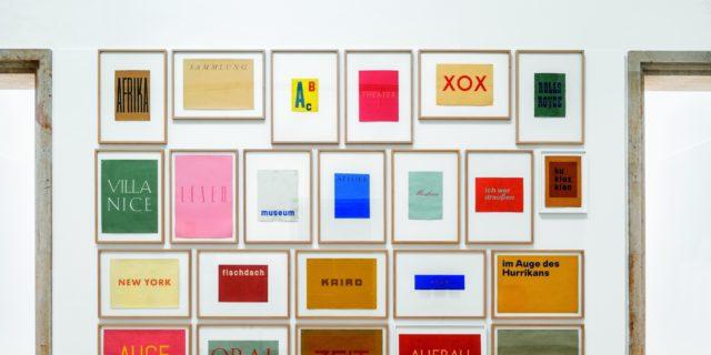 Word Images, 1957-1958, Franz Erhard Walther. Shifting Perspectives Ausstellungsansicht / Exhibition view, Haus der Kunst, Photo: Markus Tretter