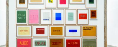 Wortbilder, 1957-1958, Franz Erhard Walther. Shifting Perspectives Ausstellungsansicht, Haus der Kunst, 2020, Foto: Markus Tretter