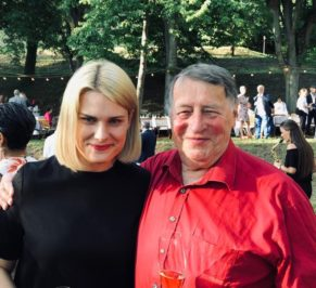 Jana Baumann and Franz Erhard Walther at the party for his 80th birthday in 2019