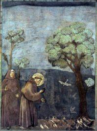 i Bondone, um 1295, Legend of St Francis, Sermon to the Birds, Basilika San Francesco, Italy