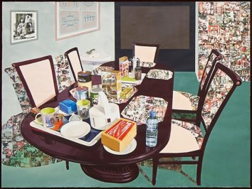 Njideka Akunyili Crosby, Teatime In New Haven, 2016, Photo: Connolly Weber Photography