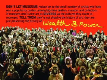 Guerilla Girls, Wealth & Power, 2016, Copyright © Guerrilla Girls, courtesy of guerrillagirls.com