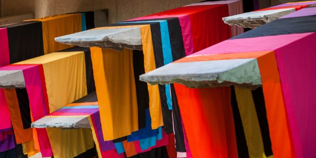 Phyllida Barlow, untitled: 11 awnings, 2013, Collection of the artist, London © Paul Crosby