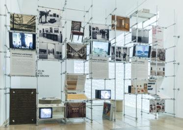 Archiv Galerie 2020/21: Archives in Residence – euward Archiv, Installationsansicht Haus der Kunst, 2020, Foto: Maximilian Geuter