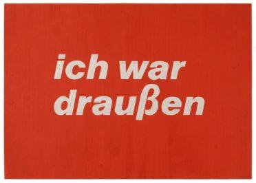 Franz Erhard Walther ich war draußen, 1958 Franz Erhard Walther Foundation  © VG Bild-Kunst, Bonn 2019