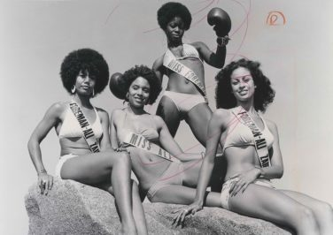Veronica Porché Ali and models, 1974.