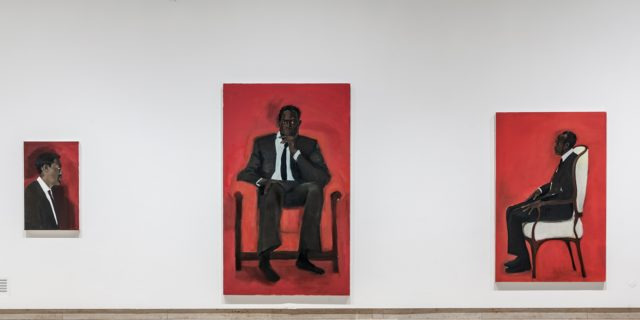 Lynette Yiadom-Boakye: The Much-mooted Mischief Of Men, 2015. Installation view Haus der Kunst. Photo: Maximilian Geuter