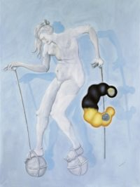 Jörg Immendorff, Untitled, 2000, oil on canvas, 280 x 210 cm © Estate of Jörg Immendorff, Courtesy Galerie Michael Werner, Märkisch Wilmersdorf, Köln & New York